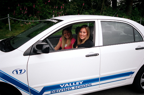 Driving Student in Car